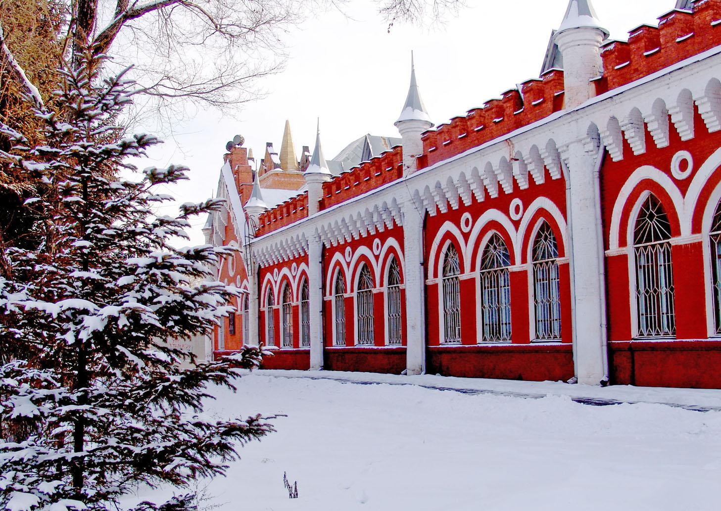 Здание Хмельницкого 2, зима АмурКНИИ